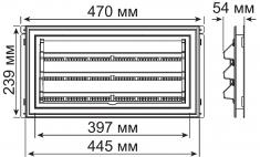 Вентиляционная отдушина с фиксированными жалюзи с мет. решеткой, код 03 6409, цвет 001