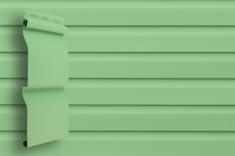 Виниловый сайдинг Grand Line Классика Корабельный брус слим (Салатовый), 3,0