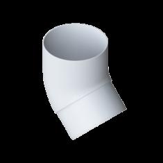 Колено трубы 45 градусов для водосточной системы белый