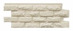 Фасадная панель GRAND LINE Колотый камень (Молочный), 1,13м
