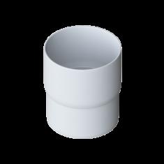 Муфта трубы для водосточной системы белая